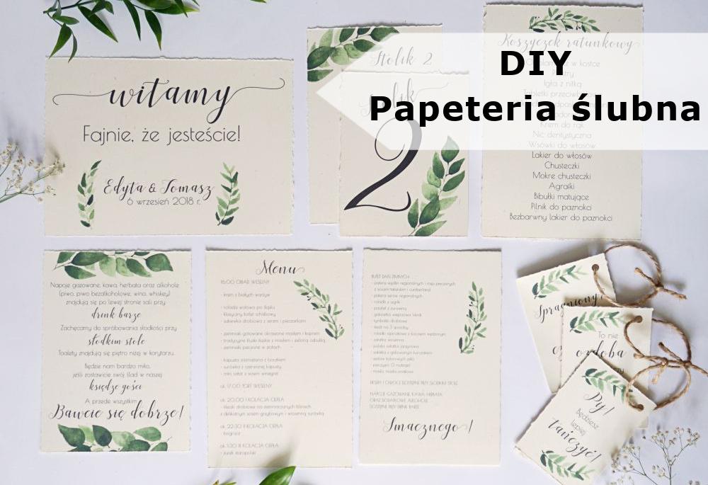 DIY Papeteria ślubna wykonana własnoręcznie
