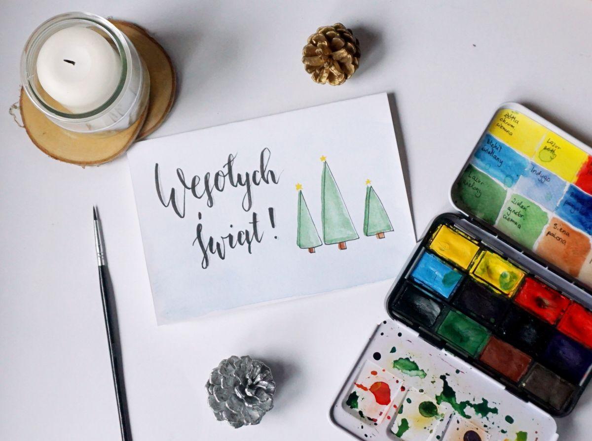 DIY 4 pomysły na kartki świąteczne