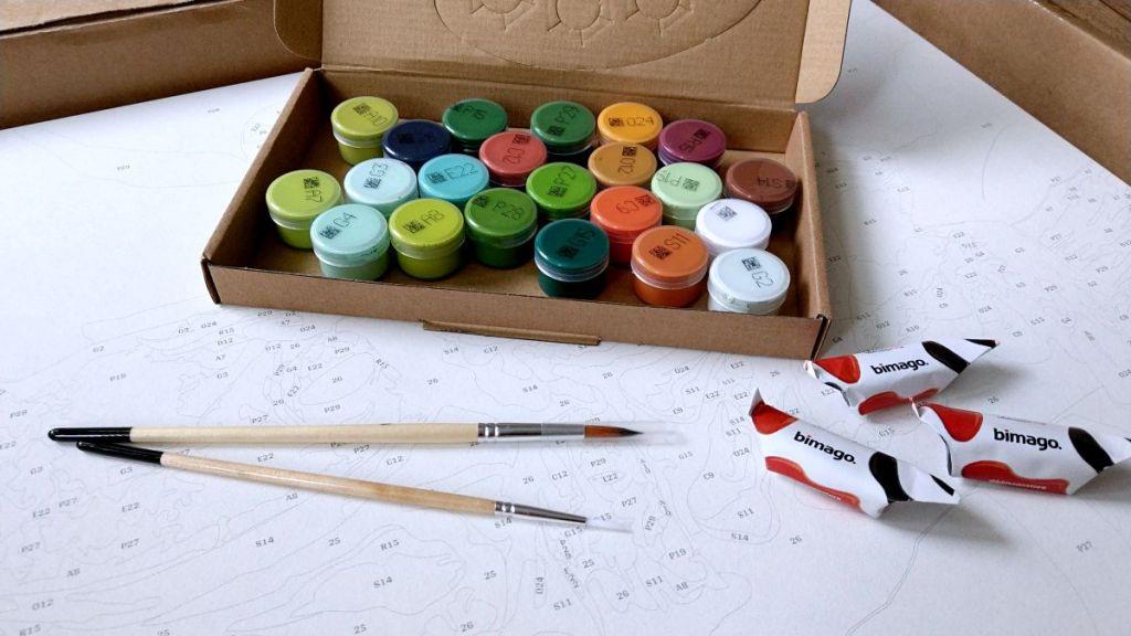 Zestaw do malowania po numerach