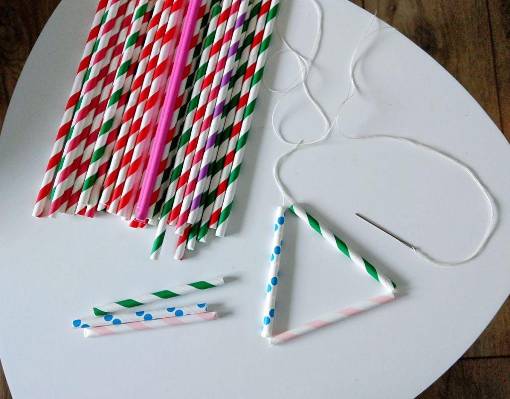 DIY Słomki po napojach recykling