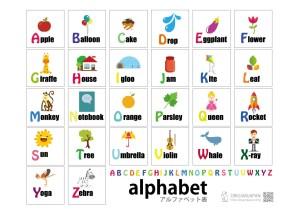 《アルファベット表》幼児・子供の英語教材|無料学習素材プリント