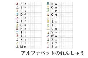 『アルファベットの練習』幼児・小学生|キッズの無料学習プリント素材
