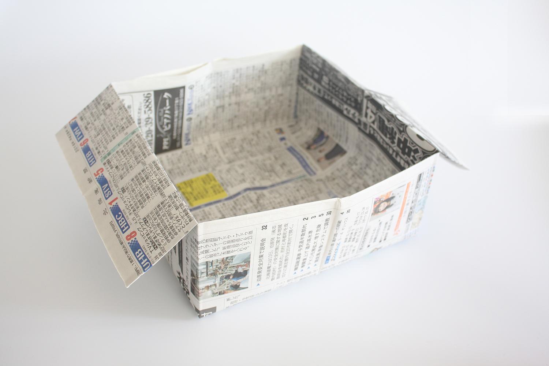 折り紙で作るゴミ箱|超簡単!1分でできる折り方|新聞紙でもできる!