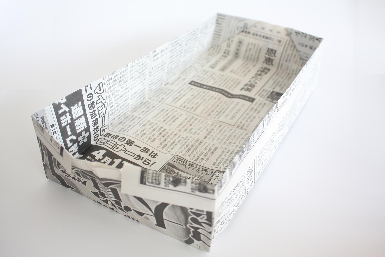 30秒で作れる!長ゴミ箱の折り方。