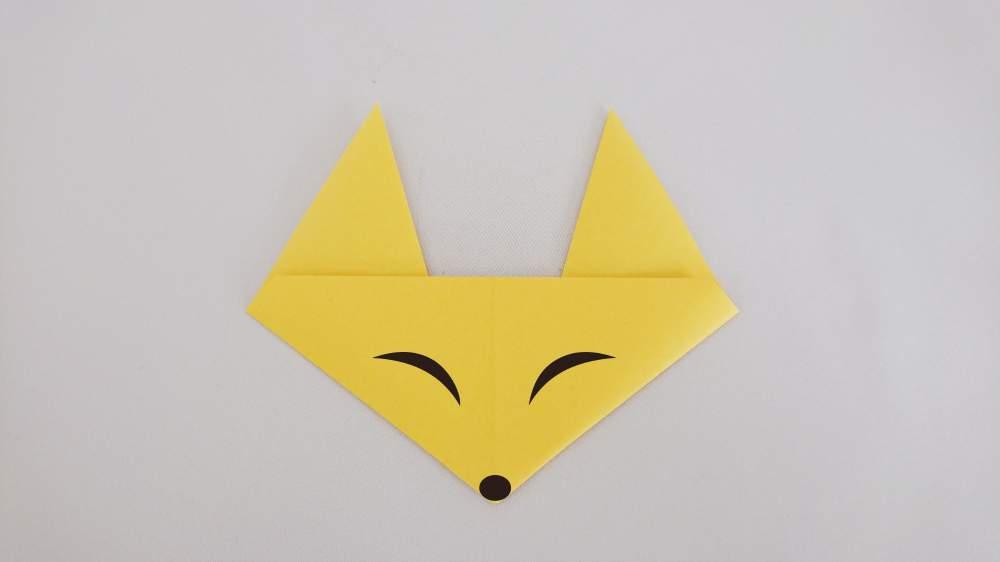 簡単でかわいい『きつねの顔』の折り紙《折り方・作り方》