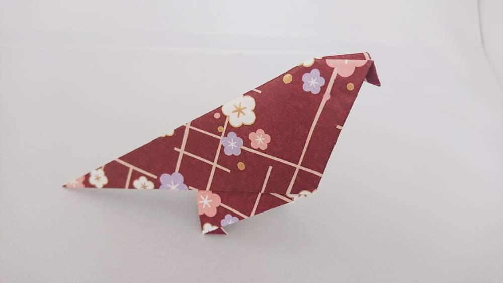 図解で簡単『すずめ』の折り紙 折り方《鳥シリーズ》