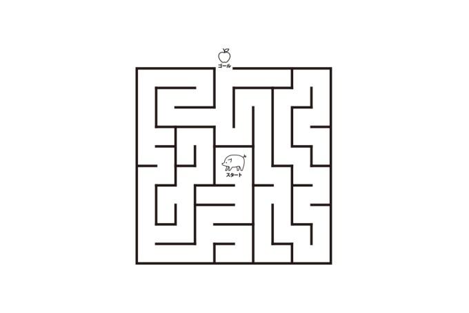 幼児子供向け迷路出口を探せ無料プリント 折り紙japan
