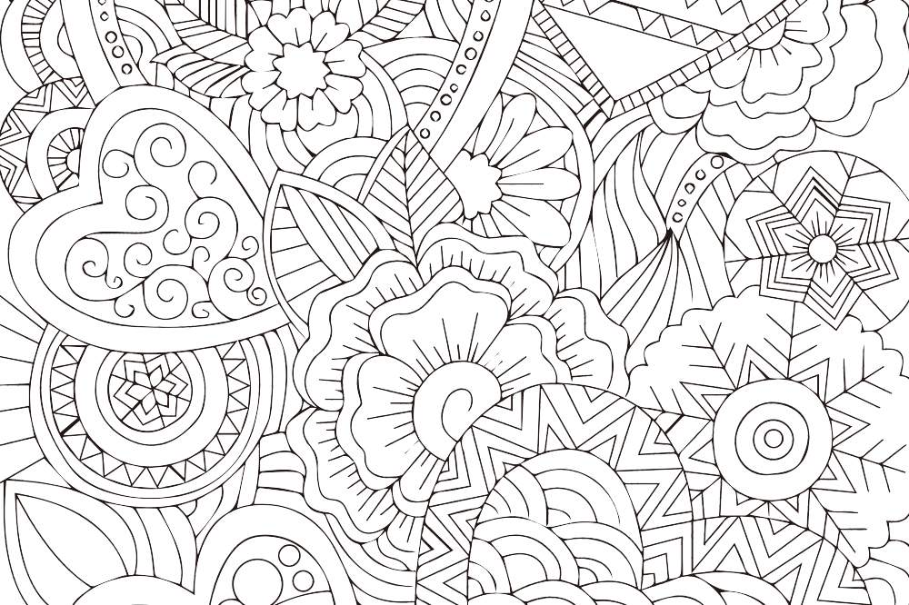ファンタジーなハート』の塗り絵|無料ダウンロード・印刷 | 折り紙japan