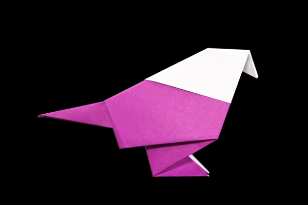 Small Bird | Easy origami instructions and diagram