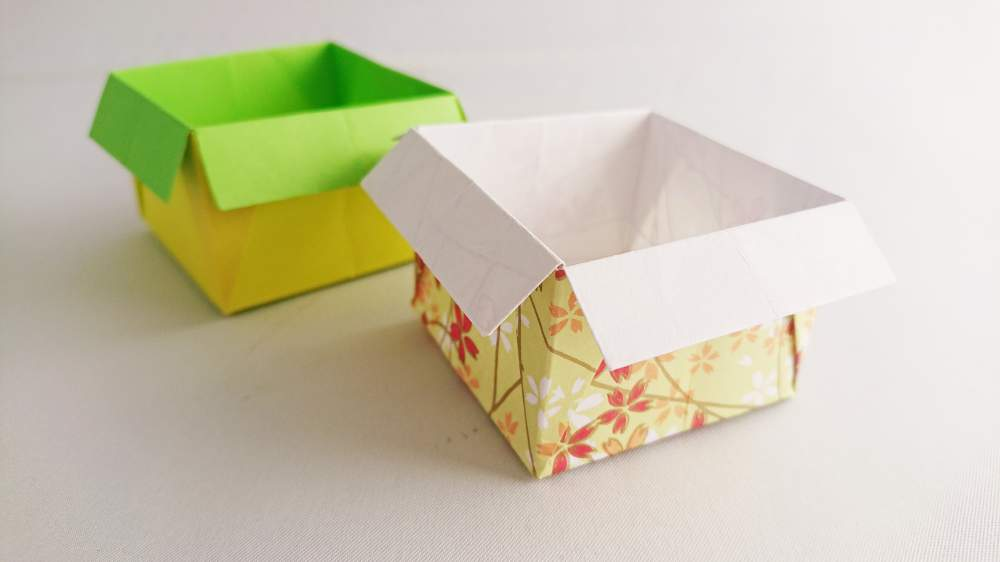 How to make a simple origami Box | Instructions and diagram