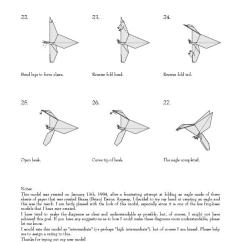 Origami Eagle Instructions Diagram 2007 Ford Fusion Speaker Wiring Set G9 Igesetze De U2022 Pdf