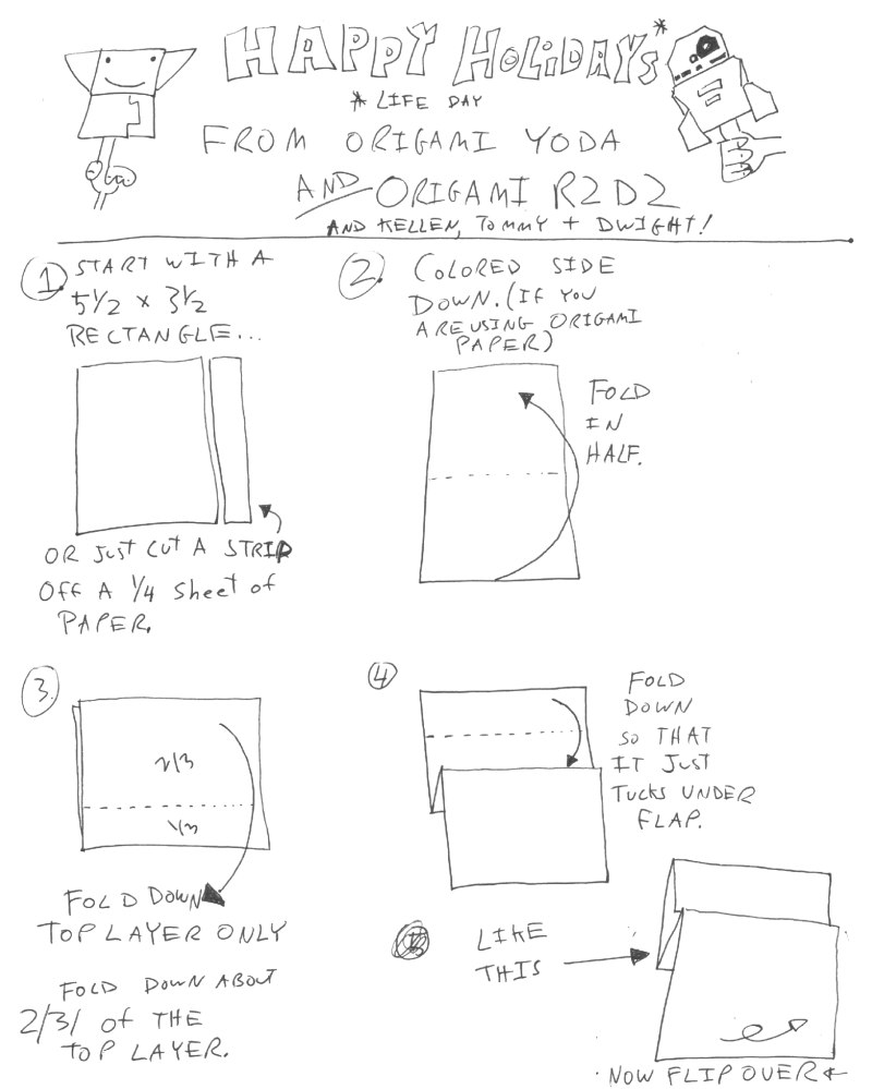 Instructions for Origami R2D2! Plus a contest! Happy Life Day! #starwars #origami (2/4)