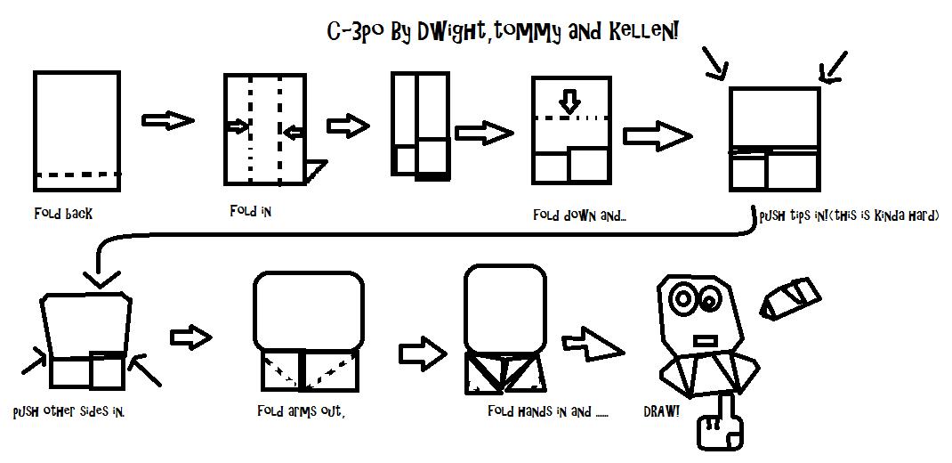 Super-Folder Derek makes Origami C3P0 … with instructions