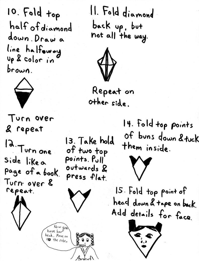 SuperFolder Jess's Origami Princess Leia instructions