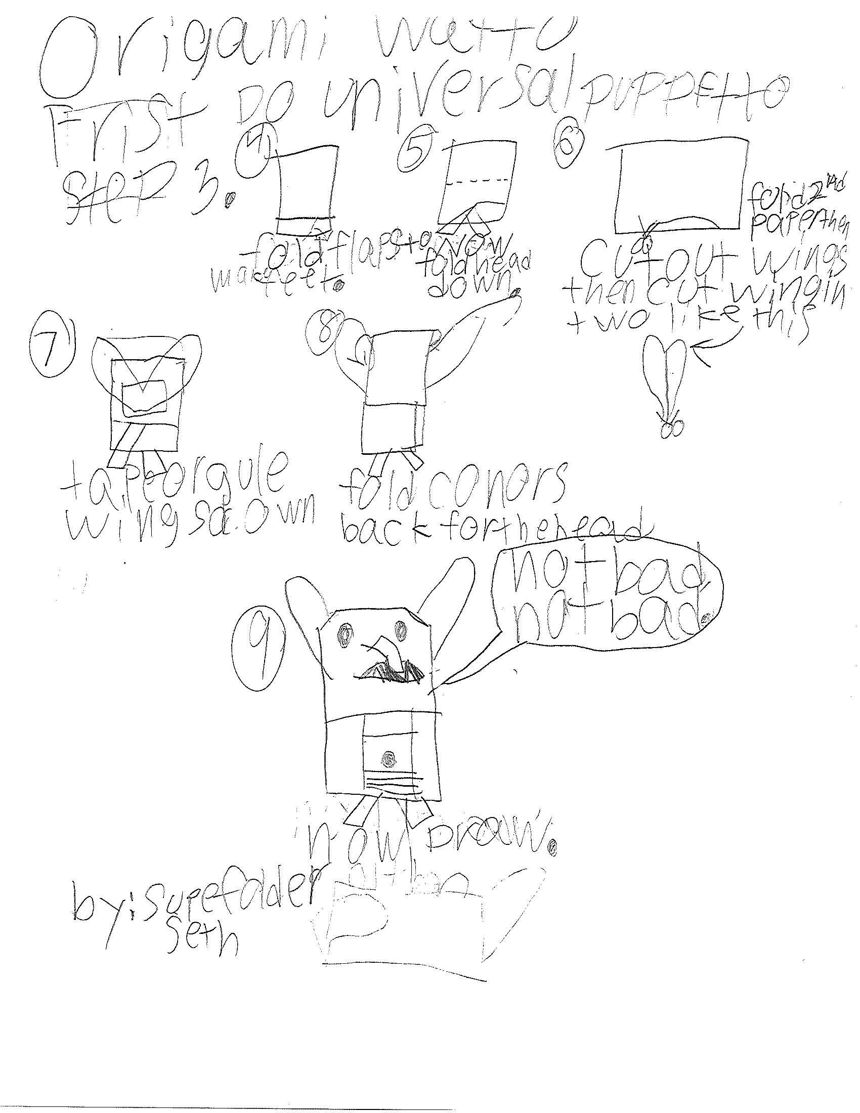 Seth SuperFolder's STOOKY 4-H Project + Watto instrux