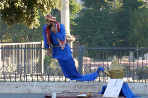 floating genie in Rome