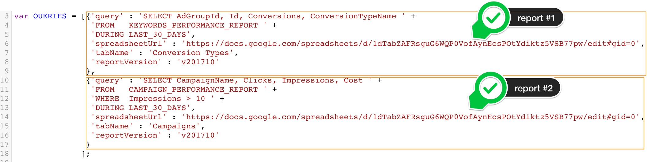 A script to put any AdWords data in a spreadsheet – Optmyzr Blog
