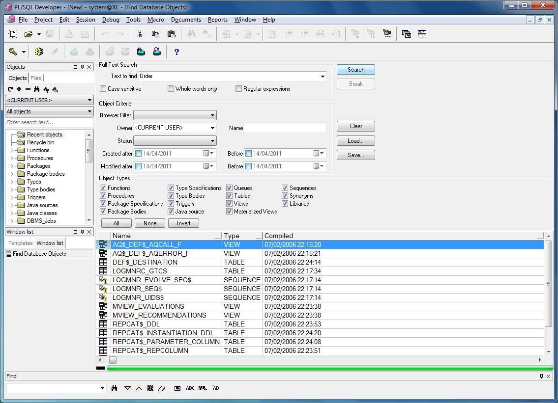 pl sql developer diagram window small sailboat wiring adds change notification
