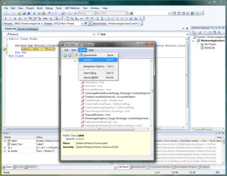 Screenshot of .NET Reflector VSPro