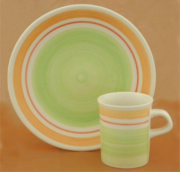 Heise Original Bunzlau Keramik Geschirr  handgefertigt in