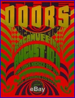 the doors 1967 crosstown bus boston concert poster 2nd printing nmt 2 mint original concert posters