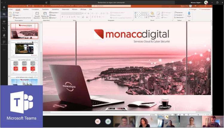 Microsoft Teams Monaco Digital Covid 19