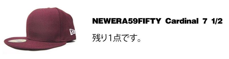 5950cardinal ニューエラ newera 59fifty オリジナル刺繍 刺繍キャップ 特価 激安 格安