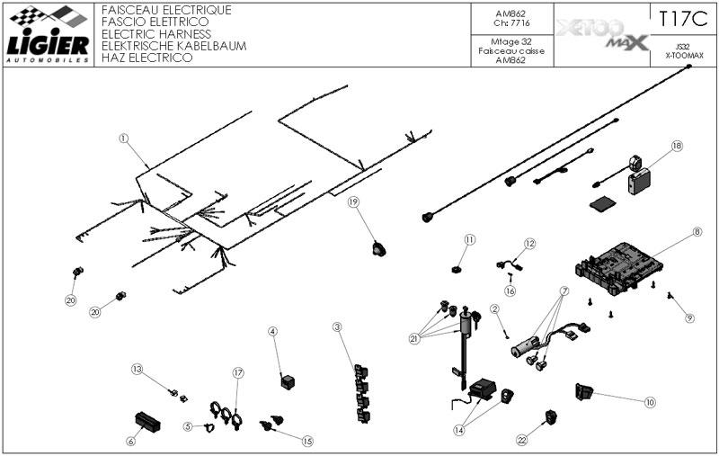 17C.Electric harnesT17C(ch7716)