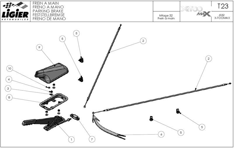 23.Parking brake T23