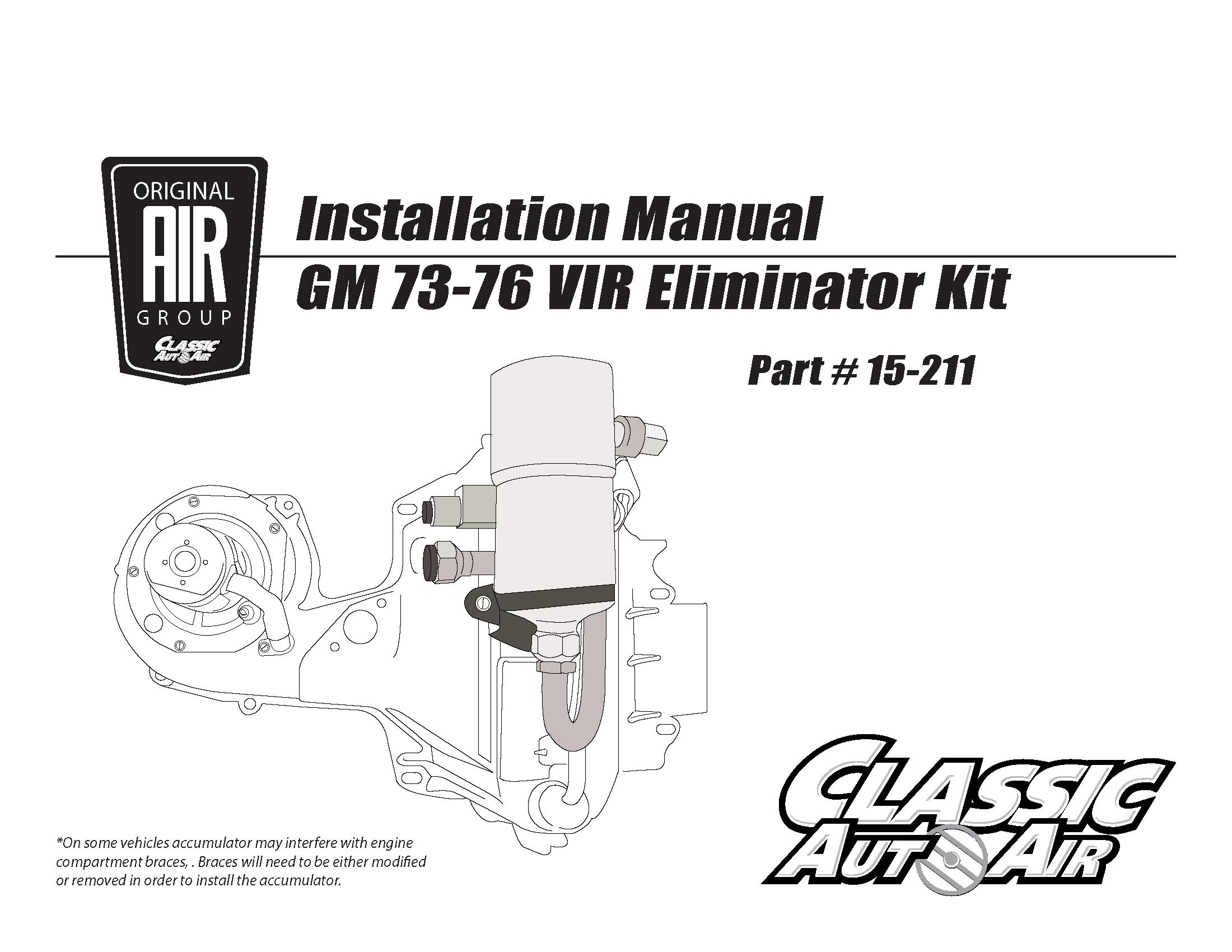 73 76 Gm A C Vir Eliminator Kit