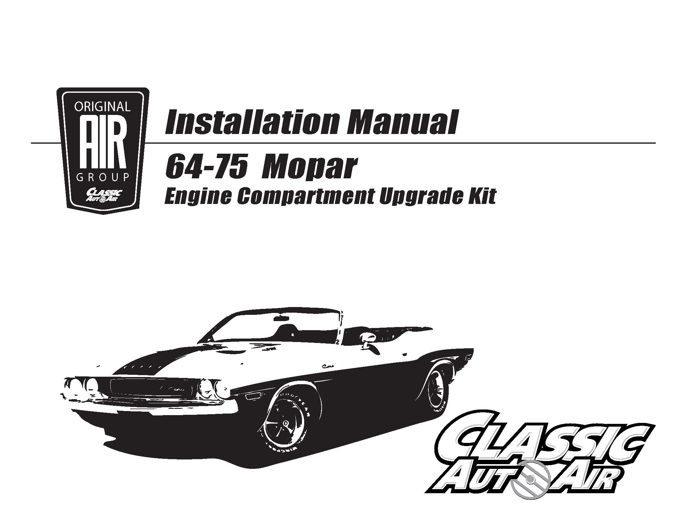 68-70 B Body A/C Performance Upgrade Kit Big-Block STAGE-2