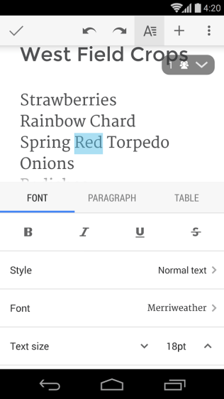 Google Docs Screenshots - Original APK (3)