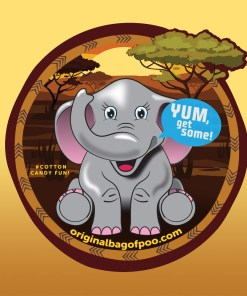Original Bag Of Poo Product Elephant Sticker