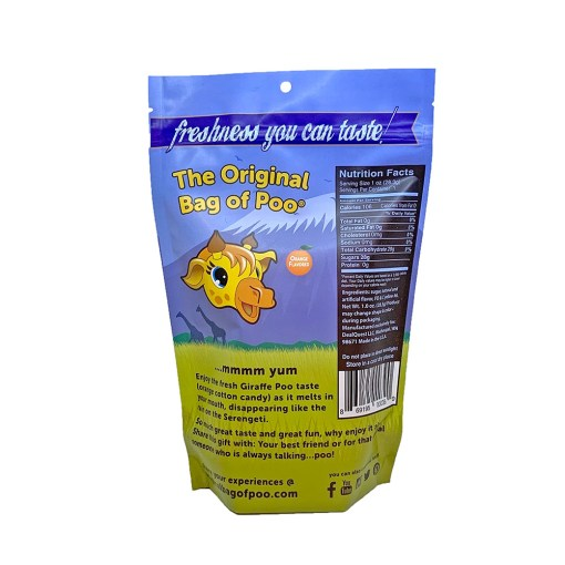 Original Bag Of Poo Product Giraffe Back