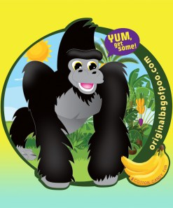 Original Bag Of Poo Product Gorilla Sticker