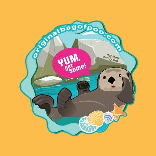 Original Bag Of Poo Product Otter Sticker