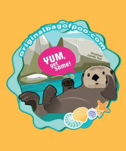 Original Bag Of Poo Product Otter Sticker