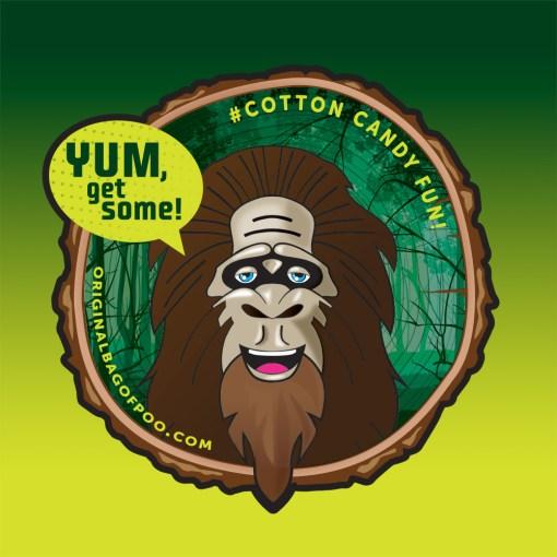 Original Bag Of Poo Product Sasquatch Sticker