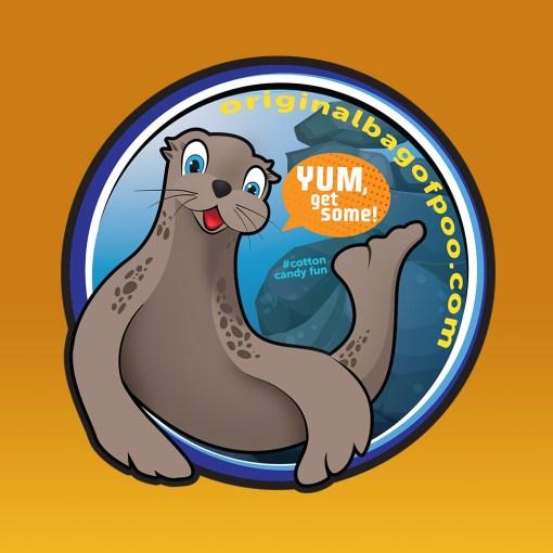 Original Bag Of Poo Product Seal Sticker