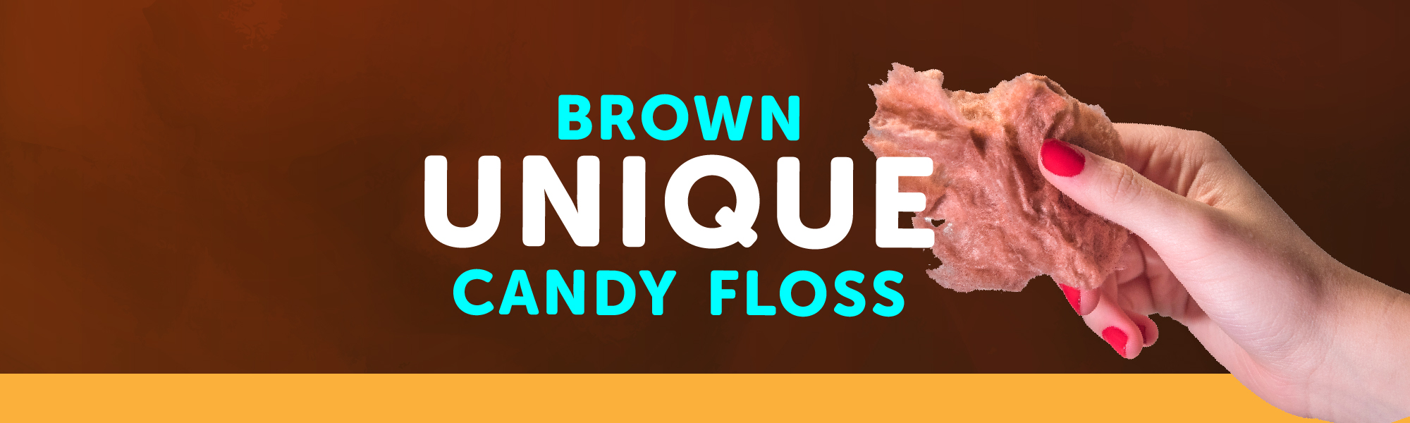 unique brown candy floss. Exclusively offered by Original Bag of Poo