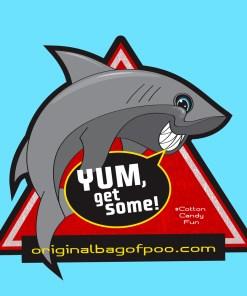 Original Bag Of Poo Product Shark Sticker