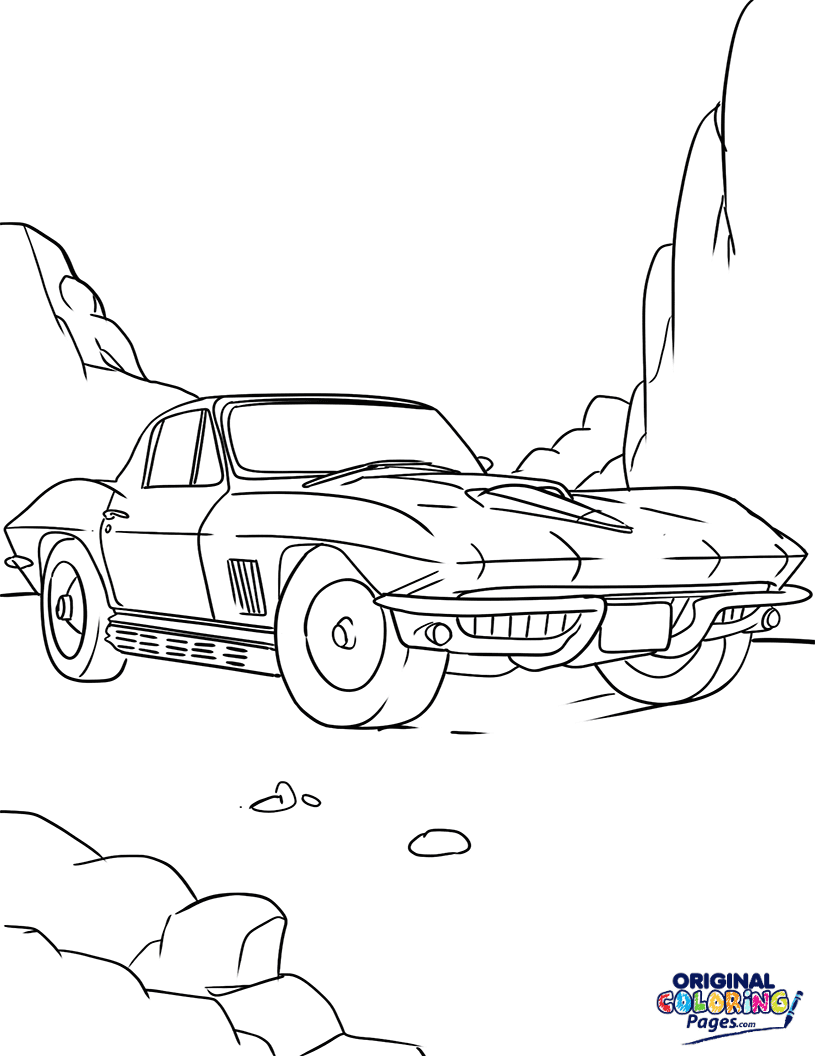 Fast Car Coloring Page Coloring Pages Original Coloring Pages