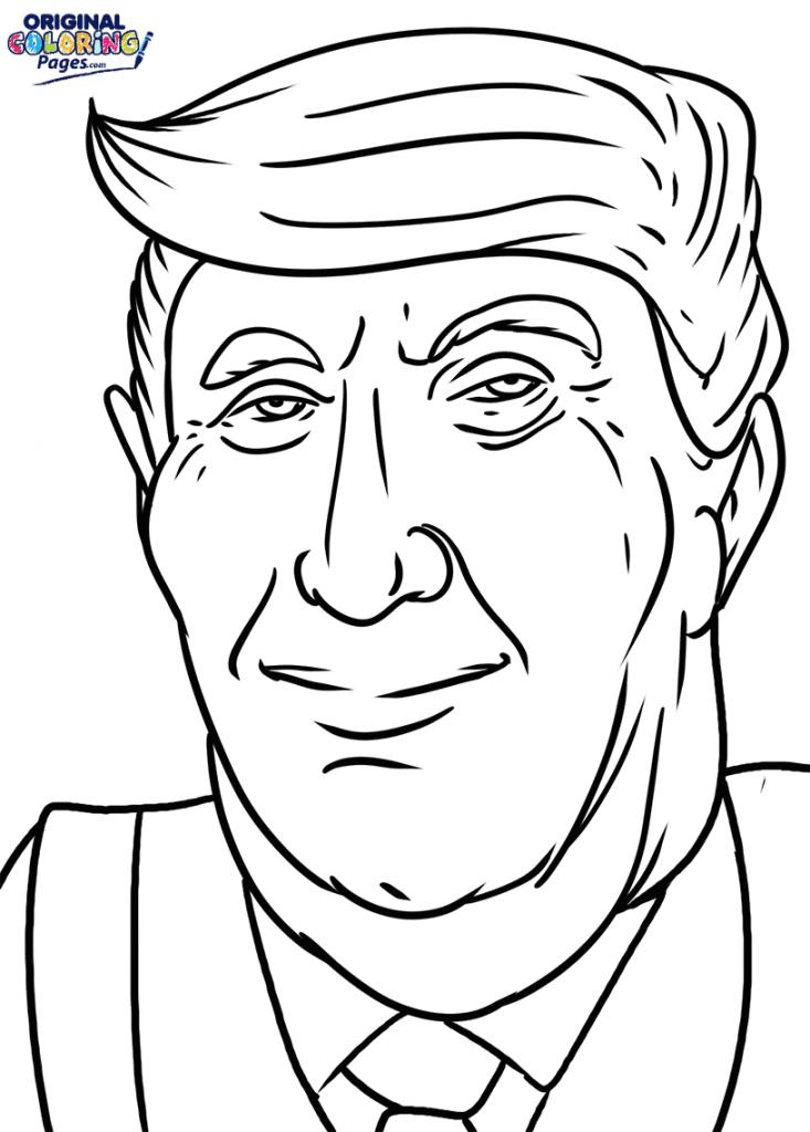 Donald Trump Coloring Page – Coloring Pages