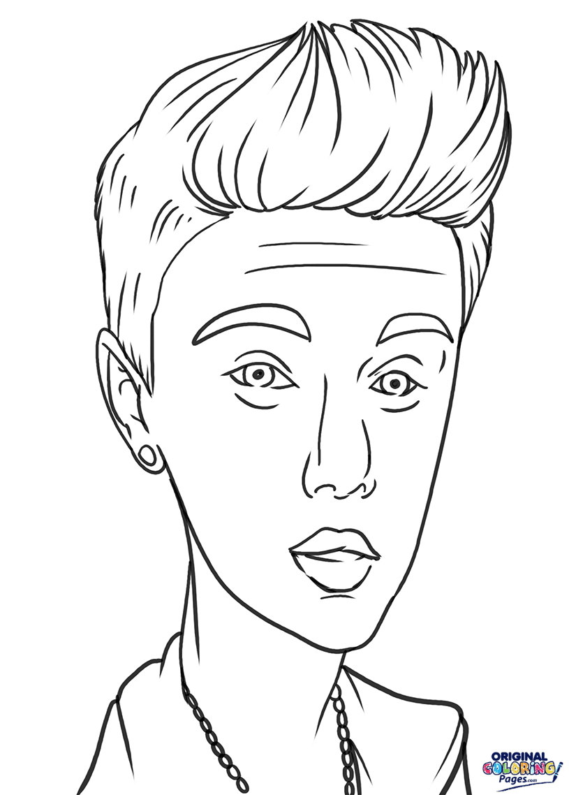 Justin Bieber Coloring Page Coloring Pages Original Coloring Pages