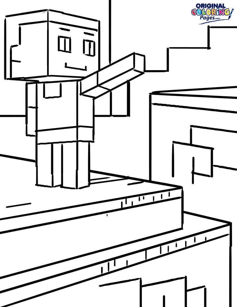 Minecraft Steve Coloring Page Coloring Pages Original