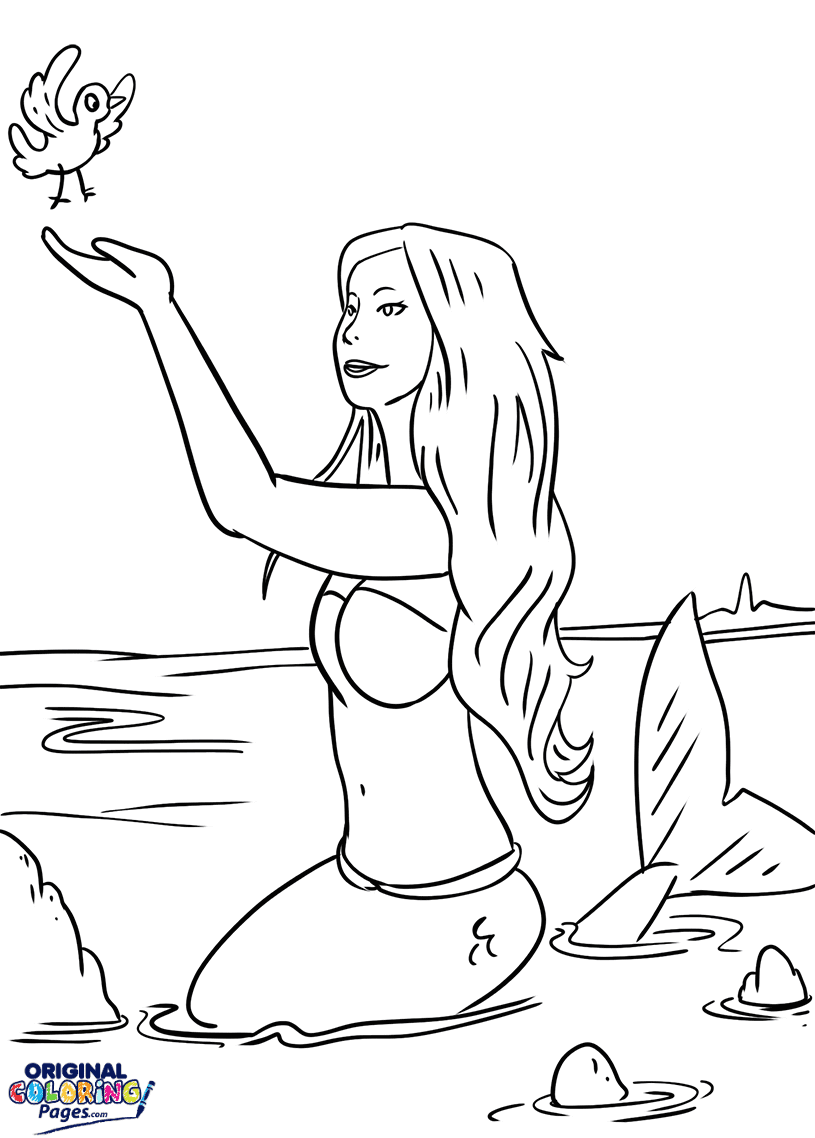 Mermaid – Coloring Pages