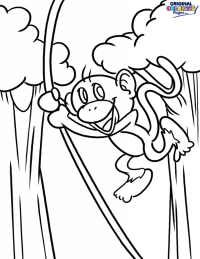 √ Five Little Monkeys Swinging In A Tree Coloring Pages ...