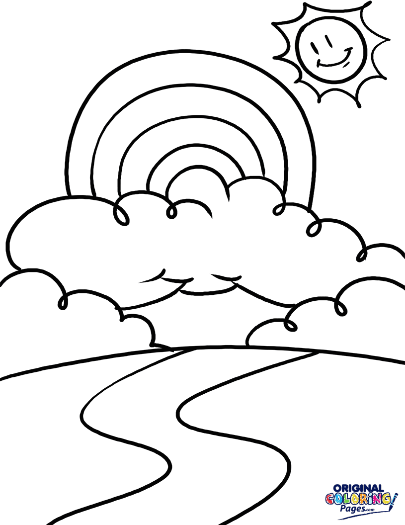 Rainbow – Coloring Pages