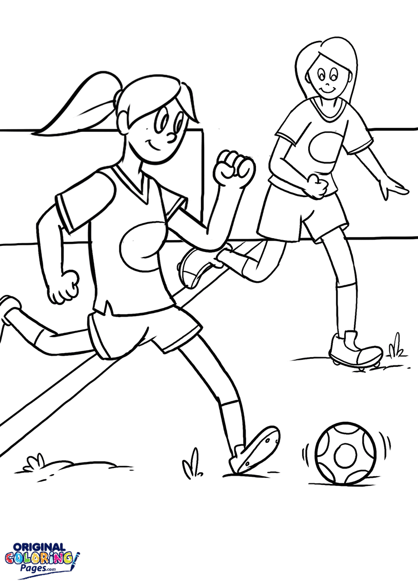 Soccer – Coloring Pages