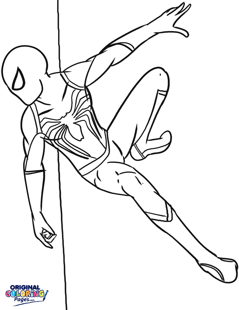 Spiderman – Coloring Pages